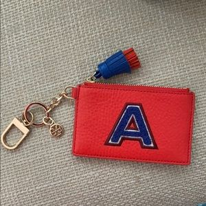 Tory Burch Letter A Card Case